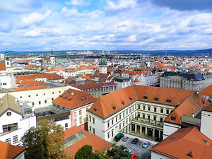 View from cathedral, brno, czech republic