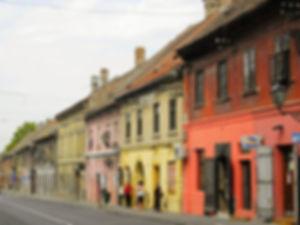 street, novi sad, serbia, houses