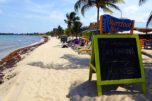 placencia belize barefoot bar beach