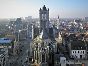 View from Belfry, church, ghent, belgium