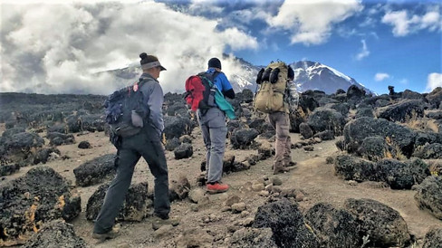 The trek towards Kili
