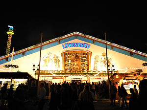 Beer tent, oktoberfest, munich, germany