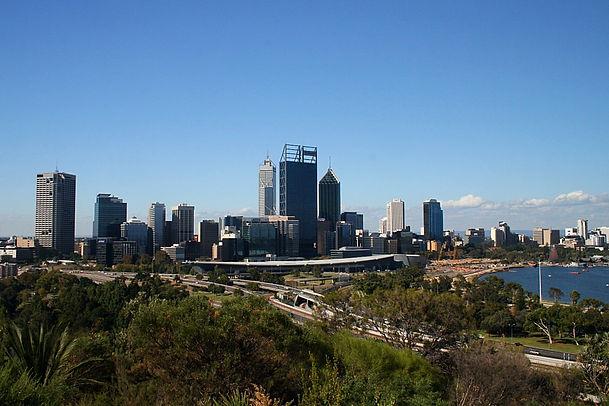 perth city view kings park australia