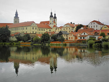 Ulicky pond, Telč, czech republic