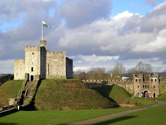 Cardiff castle, wales