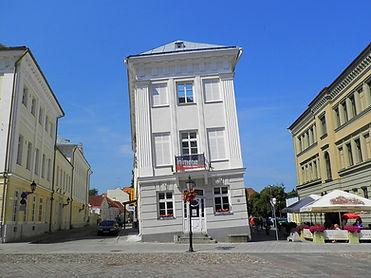 Leaning house, tartu, estonia