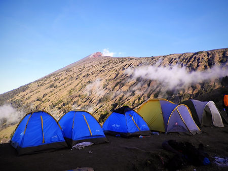 Mt Rinjani volcano trek camp Lombok Indonesia