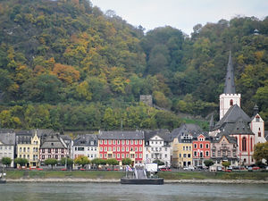 St Goar, rhine valley, germany, town, river
