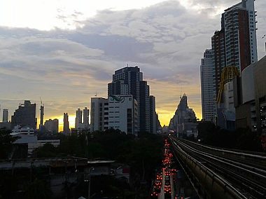 bangkok, thailand, city, sunset