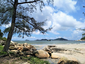 hong kong, lantau island, lantau trail, hiking, mountains, view, sea, beach