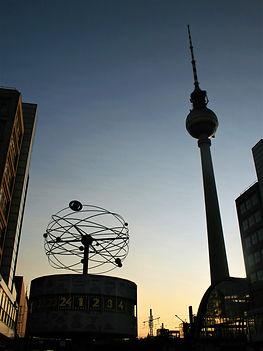 world time clock, berlin, germany