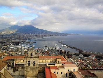 View from Castel Sant'Elmo, naples, italy, vesuvius, volcano