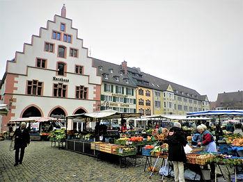 Munsterplatz, market, freiburg, germany