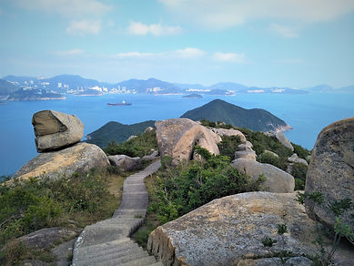 lamma island, hong kong, hiking, hike, mountains, scenery, view, nature, sea, water, rocks