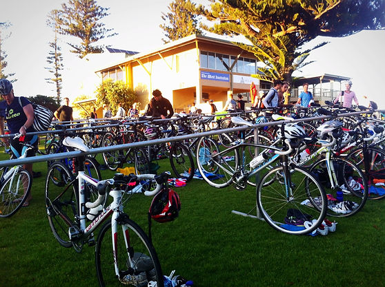 cottesloe triathlon transition australia