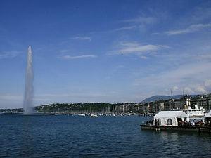geneva, switzerland, jet d'eau