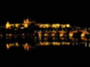 Prague castle, Charles bridge, night, czech republic