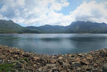 hong kong, lantau island, lantau trail, hiking, mountains, view, reservoir