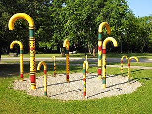 Walking stick park, sigulda, latvia