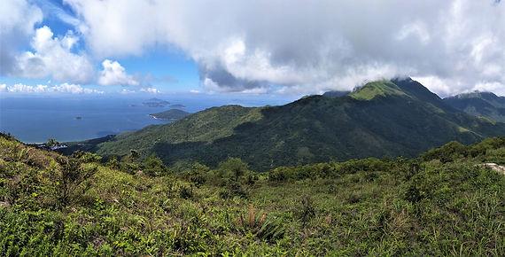 lantau island, lantau trail, view, mountain, sea, hiking, hong kong