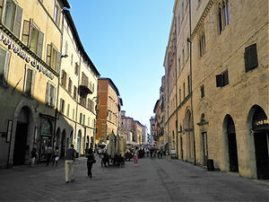 Corso Vannucci, perugia, italy