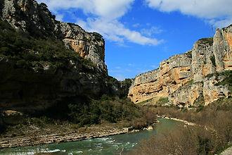 gorge, lumbier, spain, pyrenees