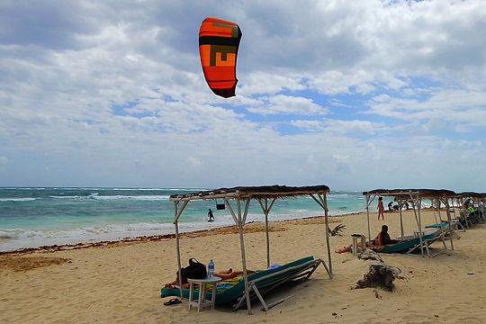 tulum beach kitesurfing