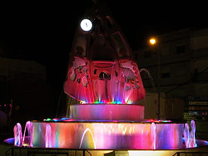 fountain, velez rubio, spain