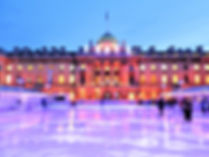 somerset house, ice rink, london, england