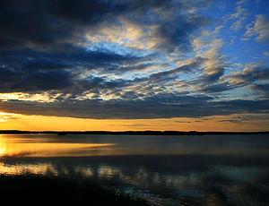 savonlinna, finland, sunset