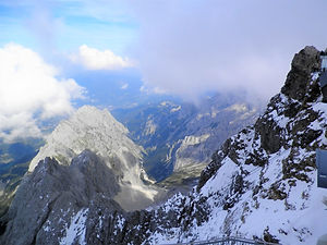 View from Zugspitze, garmisch-partenkirchen, germany