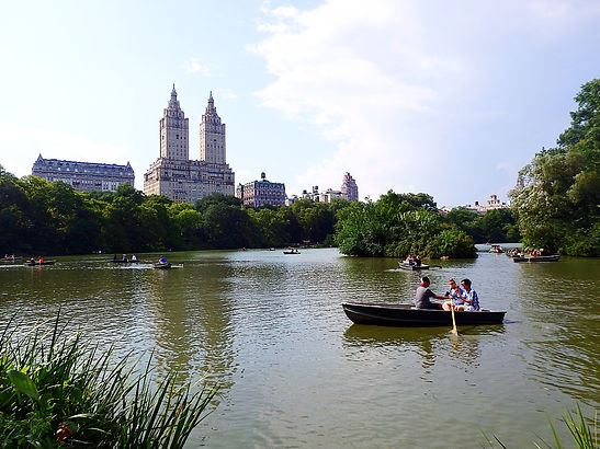 central park, lake, new york city