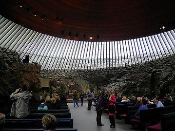 Temppeliaukio Kirkko, undergound church, helsinki, finland