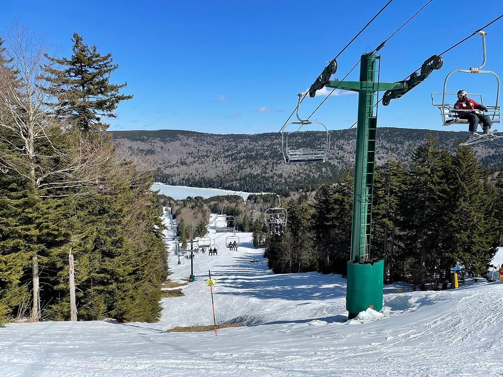 Powder Monkey Ski Lift Snowshoe Mountain Resort West Virginia