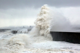 Big wave Hartlepool