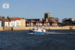 Fishing boat returns to town