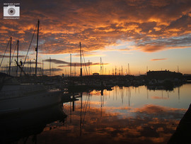 Sun set Marina at Hartlepool