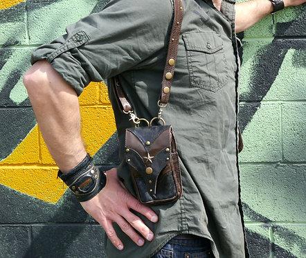 Convertible Brown, Antique Brass Shoulder Holster