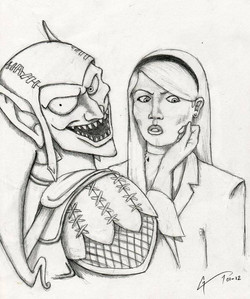 Green Goblin and Gwen Stacy