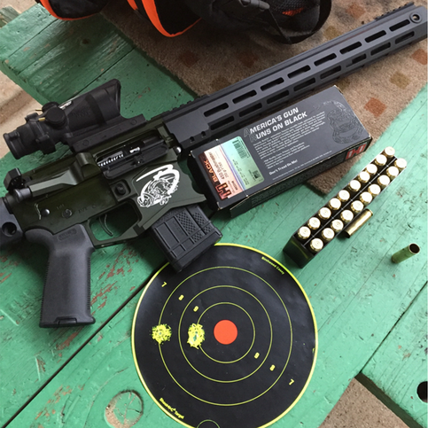 """This gun is so bad ass!! I think anyone who enjoys a very powerful gun and appreciates accuracy needs to own one!!! Spec Arms + 450 Bushmaster = BULLSEYE."""" - Spec Arms Customer"""