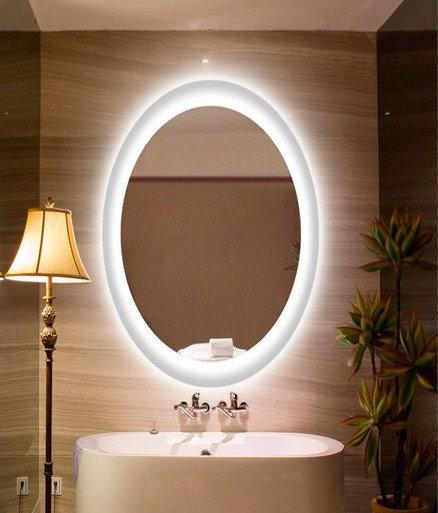 Овальное зеркало с подсветкой 013 90х60