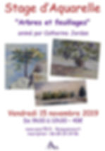 Affiche Stage feuillage arbres nov 2019.