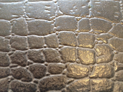 Alligatorleather Texture in Bronze