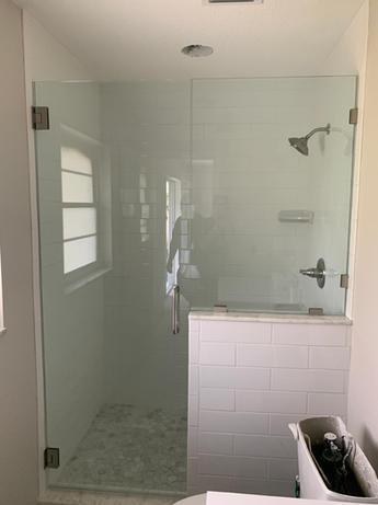 Finished Frameless Shower Enclosure