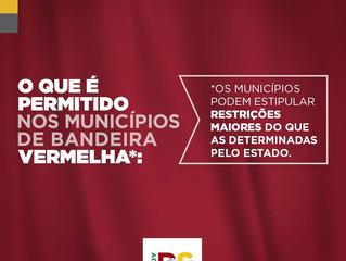 Bandeira Vermelha: Alteração no decreto estadual