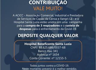 Campanha da ACICC em parceria com o Hospital Santa Luzia: juntos contra o vírus
