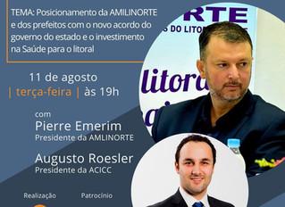 Circuito Lives ACICC - Banrisul VERO terá presença do presidente da AMLINORTE Pierre Emerim