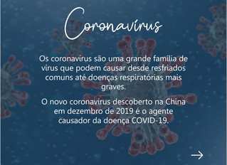 Coronavírus: Saiba tudo o vírus