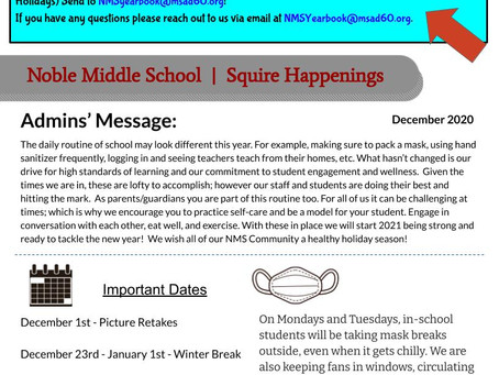 December 2020 Squire Happenings
