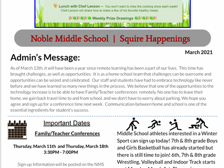 Squire Happenings March 2021